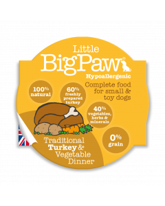 LBP Dog Turkey & Vegetable Dinner 85g