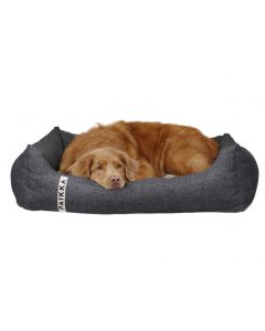 PAIKKA Orthopedic Bed Polyjute dark grey
